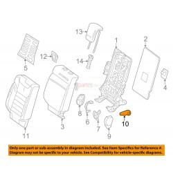 Palanca del reclinador trasero derecho