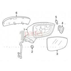 Espejo retrovisor derecho (copiloto)