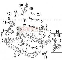 Base del motor - trasera