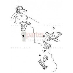Base del motor - izquierda (piloto)